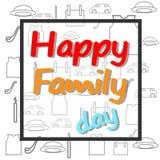 Vector gelukkige familiedag Royalty-vrije Stock Foto