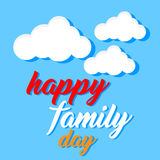 Vector gelukkige familiedag met ornamentwolk Royalty-vrije Stock Foto's