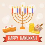 Vector gelukkige hanukkah royalty-vrije illustratie