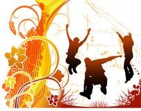 Vector gelukkige mensenillustratie Stock Foto