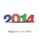 Vector gelukkige nieuwe jaar 2014 achtergrond Stock Foto