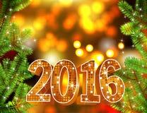 Vector gelukkige nieuwe jaar 2016 achtergrond Royalty-vrije Stock Foto