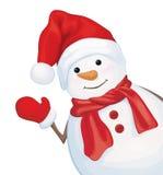 Vector Gelukkige Sneeuwman Stock Foto's