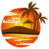 Vector gelukkige vakantie Royalty-vrije Stock Foto's