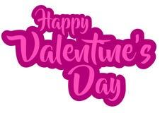 Vector gelukkige valentijnskaart` s dag Stock Fotografie
