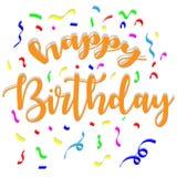 Vector gelukkige verjaardag met kleurrijk ornament Stock Foto