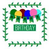 Vector Gelukkige Verjaardagsachtergrond Royalty-vrije Stock Fotografie