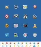 Vector gemeenschappelijke websitepictogrammen. GPS navigatie Stock Fotografie