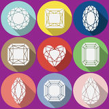 Vector gems icons set Stock Photography
