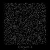 Vector generative branch growth pattern. Lichen like organic structure with veins. Monocrome square biological net of. Vessels stock illustration