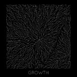 Vector generative branch growth pattern. Lichen like organic structure with veins. Monocrome square biological net of. Vessels vector illustration