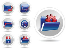 Vector generic icon set. Created vector icons for generic use which includes mail,checklist,folder, folder setting,lock,clock royalty free illustration