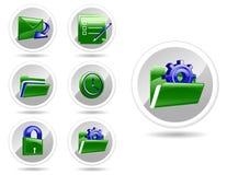 Vector generic icon set Stock Photo