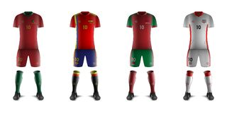 Generic Kits of Soccer National Teams B. Vector of Generic Kits of Soccer National Teams B stock illustration