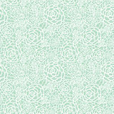 Vector gentle pastel mint green lace roses seamless repeat pattern background. Great for wedding or bridal shower decor