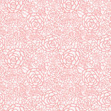 Vector gentle pastel pink lace roses seamless repeat pattern background. Great for wedding or bridal shower decor Royalty Free Stock Photos