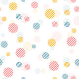 Vector gentle vintage seamless pattern with colorful dots. Royalty Free Stock Photos