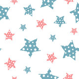 Vector gentle vintage seamless pattern with stars Stock Photo