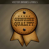 Vector genuine leather label Royalty Free Stock Photography