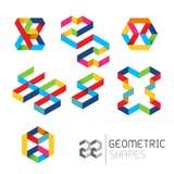Vector geométrico de los modelos Imagen de archivo