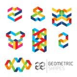 Vector geométrico de los modelos Imagenes de archivo