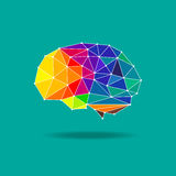 Vector geométrico del cerebro imágenes de archivo libres de regalías