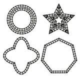 Vector geométrico del diseño de las formas Fotografía de archivo