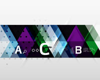 Vector geometric abstract background Stock Photography
