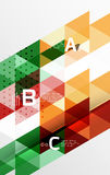 Vector geometric abstract background Stock Images
