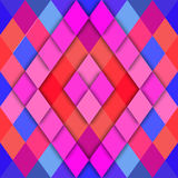 Vector geometric abstract background of rhombus shapes Stock Image