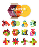 Vector geometric abstract background template for infographics Stock Photos