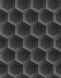 Vector geometric abstract background. Tileable eco 3D modern recurring creative conceptual design techno textural fond consisting of convex plastic celluar grid Royalty Free Stock Image