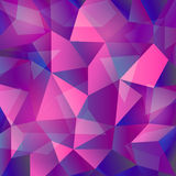 Vector geometric abstract background with triangles and lines. Poligon abstract background Stock Image