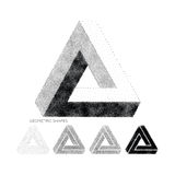 Vector geometric abstract 3D Triangles. Abstract 3D Triangles. Vector geometric design element, new amazing hipster background. Modern pointillism Design Vector Illustration