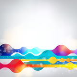 Vector geometric abstract rainbow multicolored vibrant background. EPS 10 Royalty Free Stock Photo