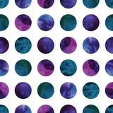 Vector geometric abstract watercolor pattern with Royalty Free Stock Photos