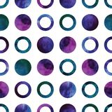 Vector geometric abstract watercolor pattern with Stock Photo
