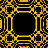 Vector geometric art deco frame with gold shapes Stock Images