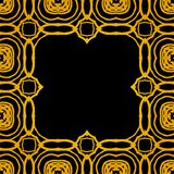 Vector geometric art deco frame with gold shapes Royalty Free Stock Photo