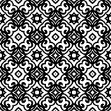 Vector geometric art deco pattern. With lacing shapes in black and white Vector Illustration