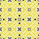 Vector geometric art deco pattern in yellow. And black Royalty Free Illustration