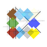 Vector geometric art template abstract background. Design royalty free illustration
