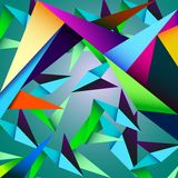 Vector geometric background. Abstract, architecture  artwork, geometric backdrop, triangles background Stock Photos