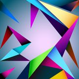 Vector geometric background. Abstract, architecture  artwork, geometric backdrop, triangles background Royalty Free Stock Photography