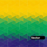 Vector geometric background in Brazil flag. Brazil Flag of geometric shapes. Vector illustration Stock Image