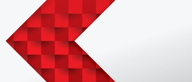 Red and white geometric pattern, abstract background template. Stock Images