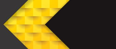 Yellow and black geometric pattern, abstract background template. Royalty Free Stock Photos