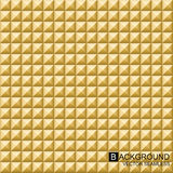 Vector geometric background. Gold seamless cubes. Stock Photo