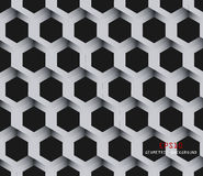 Vector geometric background. Vector hexagons background. Geometric pattern. Retro geometric hexagon backdrop. Polygonal unusual comb texture. Textured design Royalty Free Stock Photography