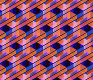 Vector geometric background. Vector hexagons background. Geometric pattern. Retro geometric hexagon backdrop. Polygonal unusual comb texture. Textured design Stock Image